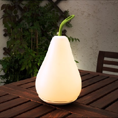 Lampadaire poire energie solaire et led lumi re d for Lumiere terrasse led