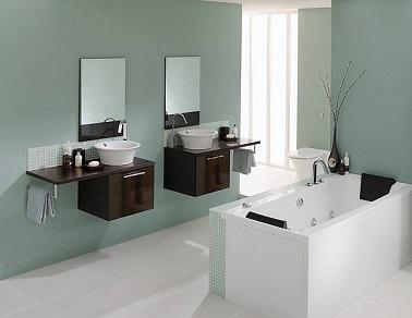 Salle de bain design meubles et mod les tendances - Meuble bois salle de bain pas cher ...