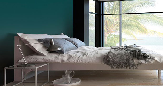 chambre tete de lit couleur vert emeraude peintures tollens. Black Bedroom Furniture Sets. Home Design Ideas