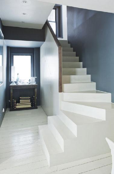 Peinture pour sol farrow and ball dans escalier et entr e - Peinture pour escalier beton ...