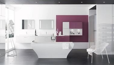 Salle de bain design meubles et mod les tendances - Salle de bain couleur aubergine ...