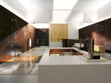 du cuivre et du blanc rvlent le luxe de cette salle de bain design des - Salle De Bain Moderne De Luxe