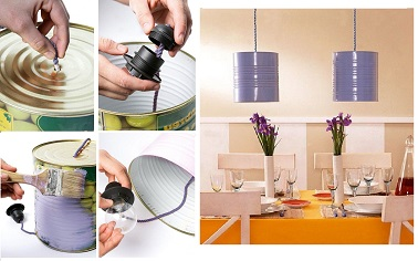 Suspensions lampions conserves mauves diy for Suspension electrique cuisine