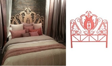 t te de lit rotin le monde sauvage. Black Bedroom Furniture Sets. Home Design Ideas