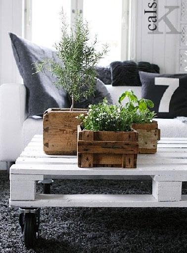 17 id es pour fabriquer une table basse palette deco cool - Deco jardin en palette nice ...