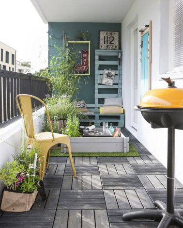 Terrasse en bois composite petite et l gante for Petite terrasse en bois
