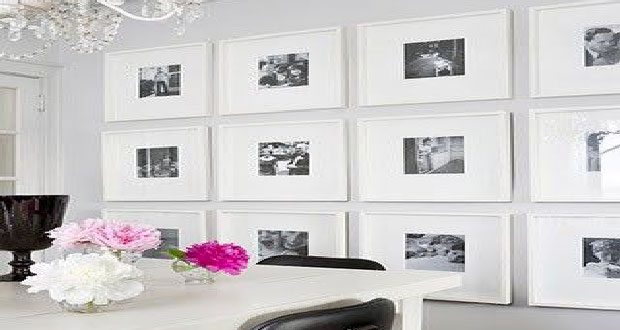 Syst me pour accrocher un tableau sans faire de trou - Faire un mur de photos decoration ...