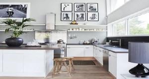 Peinture salon grise cloison blanche canap gris perle - Peinture pour cuisine rustique ...