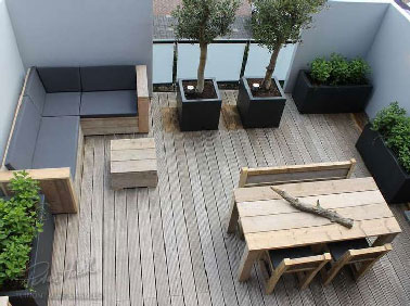 comment amenager terrasse 15m2. Black Bedroom Furniture Sets. Home Design Ideas