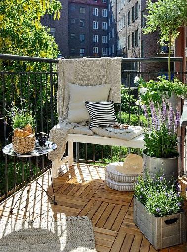 5 d co balcon petit budget grandes id es prises sur pinterest for Idees deco jardin d hiver