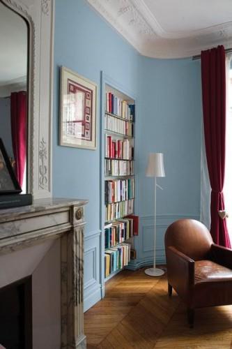Peinture salon teinte Bleu Rétro collection Mise en teinte pour Tollens