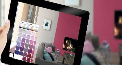 simulateur peinture dulux valentine en r alit augment e. Black Bedroom Furniture Sets. Home Design Ideas
