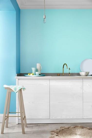 nouvelles nuances de bleu pour la peinture cuisine. Black Bedroom Furniture Sets. Home Design Ideas