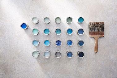 Peinture bleu 21 nuances pour les murs avec little greene for Little green peinture nuancier