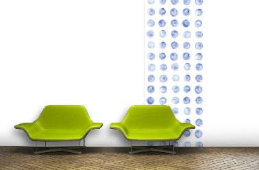 Papier peint design Points Bleus collection 2015 Scenolia