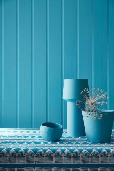 Peinture couleur turquoise pour d co murs little greene for Quelle couleur avec du bleu turquoise