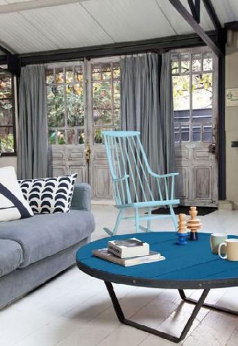 Peinture tollens pour repeindre fauteuil et table du salon - Repeindre un salon ...