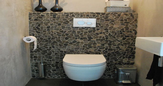 D co toilettes mosaique - Deco kleine wc ...