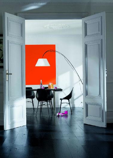 Couleur salon choisir une couleur peinture sans se planter for Peinture blanc orange salon