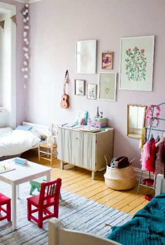 D co chambre fille peinture gris perle - Peinture gris perle chambre ...