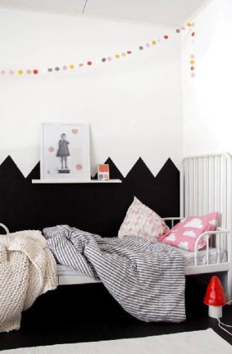 Peinture chambre fille ado noir et blanche for Peindre une chambre de fille