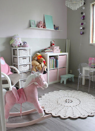 decoration chambre bebe fille rose et gris. Black Bedroom Furniture Sets. Home Design Ideas