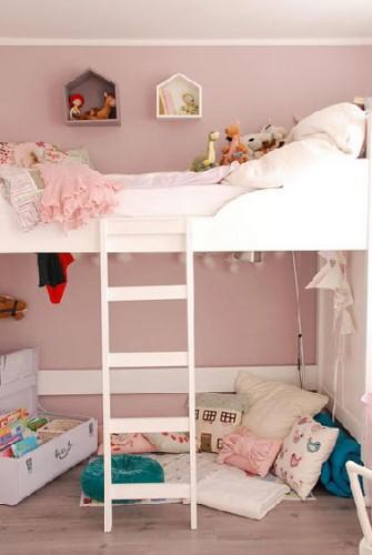Rose poudr pour la peinture de chambre fille - Deco chambre rose poudre ...