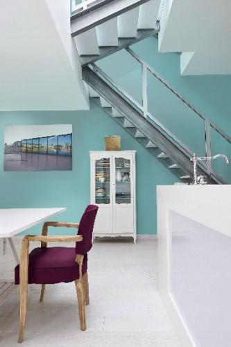 couleur cuisine vert d 39 eau meubles blanc peinture zolpan. Black Bedroom Furniture Sets. Home Design Ideas