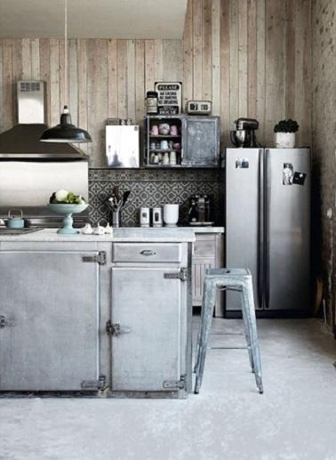 10 id es d co de cuisine style industriel deco cool - Cuisine bois et metal ...