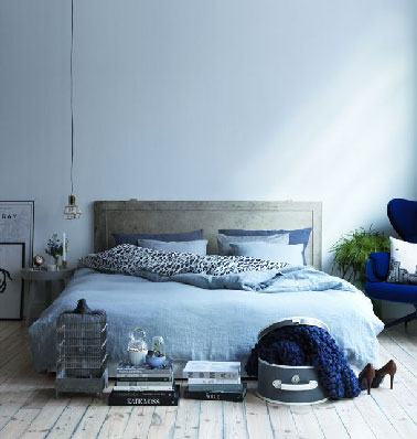 d co chambre bleu pastel et gris. Black Bedroom Furniture Sets. Home Design Ideas
