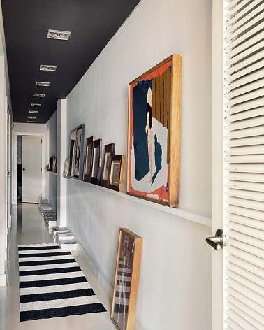 d co couloir moderne en noir et blanc