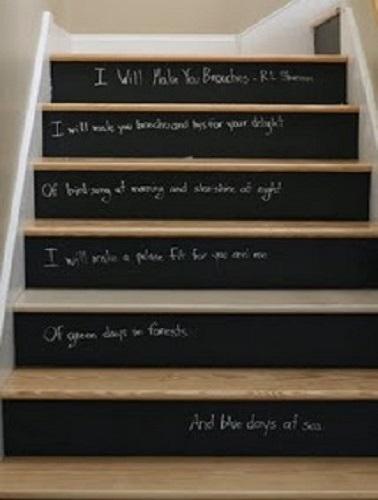 D co escalier avec peinture tableau noir for Peinture tableau ardoise