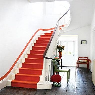 D co escalier trompe l 39 oeil peinture - Meuble trompe l oeil ...