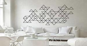 Une sélection Déco-Cool de déco graphique à réaliser en mural pour la décoration du salon, de la chambre, en peinture, carrelage, papier peint ou masting tape
