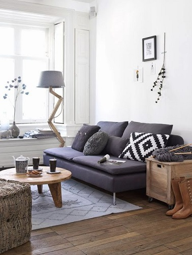10 id es d co pour un petit salon au top deco cool for Deco salon style scandinave