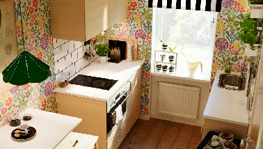 Id e de kitchenette ikea dans petit appartement - Idee amenagement petit appartement ...