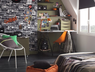 id e d co chambre gar on style urbain. Black Bedroom Furniture Sets. Home Design Ideas