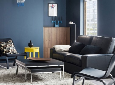 10 id es d co pour un petit salon au top deco cool. Black Bedroom Furniture Sets. Home Design Ideas