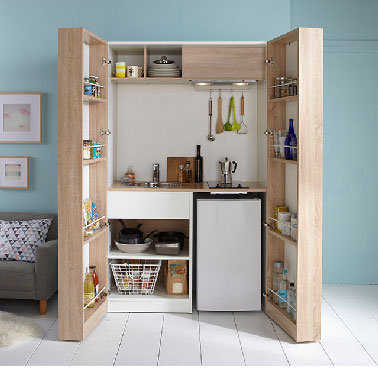 Kitchenette version armoire castorama - Ikea kitchenette frigo ...