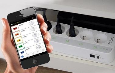 Cette multiprise connectée Extel Soky peut être gérée via l'application. De cette façon chaque prise peut être contrôlée à distance. Utile pour faire des économies !