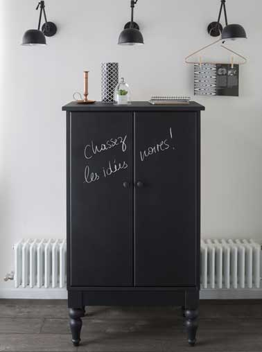 peinture tableau noir pour repeindre un meuble. Black Bedroom Furniture Sets. Home Design Ideas