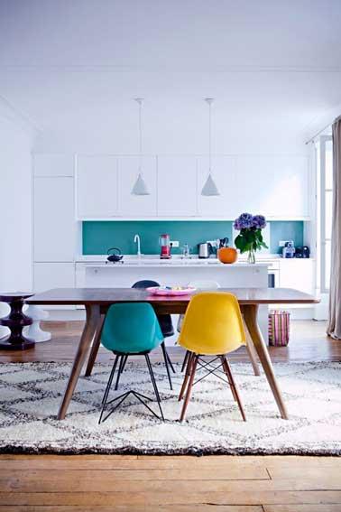 Chambre Marron Turquoise : Cuisine Gris Bleu Turquoise: Murs couleurs papiers peints peintures …