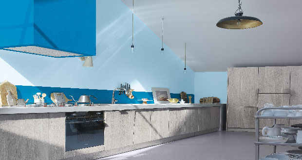 """Pour réveiller sa cuisine, mettre de la couleur sur les murs c'est détonnant d'efficacité ! notre sélection de peinture dont les couleurs vont vous faire rougir d""""impatience."""