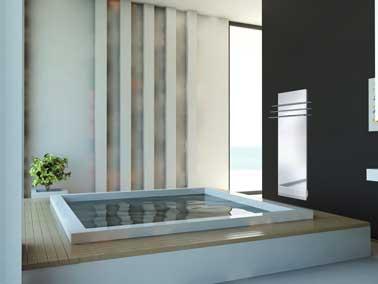 Sèche-serviettes soufflant Fondis «Evolution» Miroir clair   Sans buée lorsque l'appareil fonctionne,   puissance 550 W + Soufflerie de 1.000 W