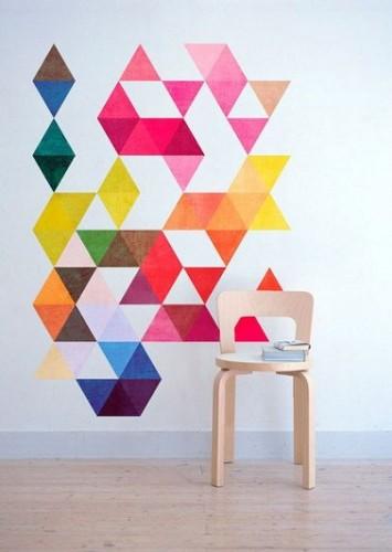 Stickers déco forme géométrique motifs graphiques