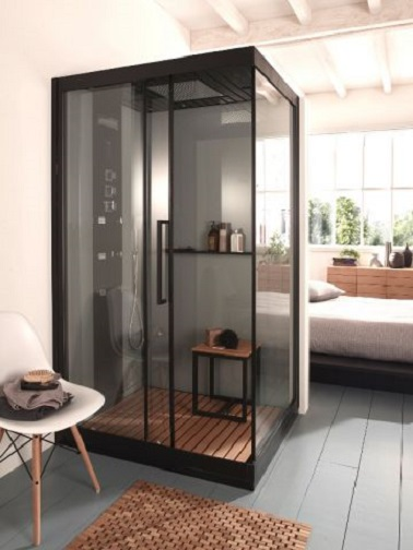 suite parentale un plan avec cabine de douche. Black Bedroom Furniture Sets. Home Design Ideas