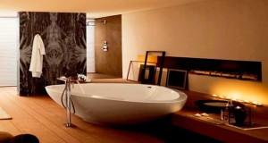 Pour un moment de détente dans la salle de bain luxueuse voici 15 baignoires design, îlot, d'angle, ou baignoire ovale pour choisir son style en fonction de la surface et de la place du design dans sa salle de bain