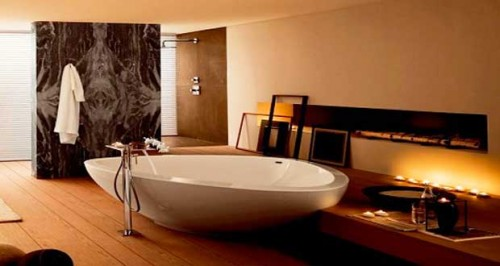 Baignoire design pour d co salle de bain d 39 exception for Decoration pour baignoire