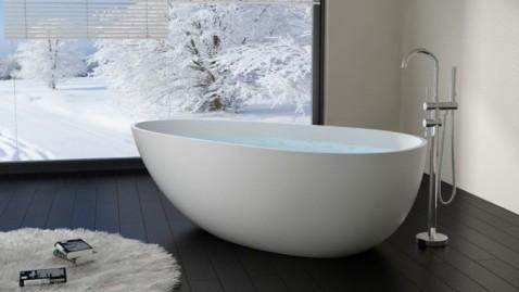Une baignoire œuf pour s'immerger dans un bain de douceur et de design sans pareil.