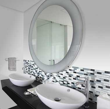 carrelage adh sif pour refaire sa salle de bain smart tiles. Black Bedroom Furniture Sets. Home Design Ideas